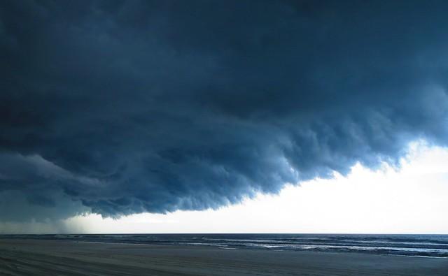 Thunderstorm over South Anastasia Island, 1 August 2013 ff