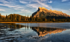Late Light at Vermilion Lakes