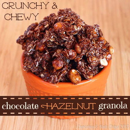 Crunchy and Chewy Chocolate Hazelnut Nutella Granola 2 title