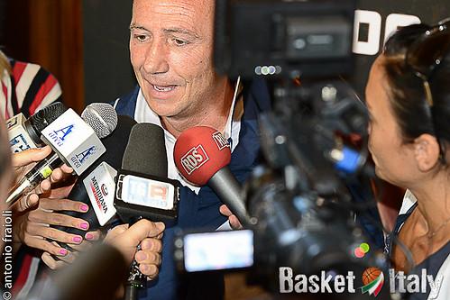 Luca Dalmonte  Presentazione Virtus Roma Basket 2013/14