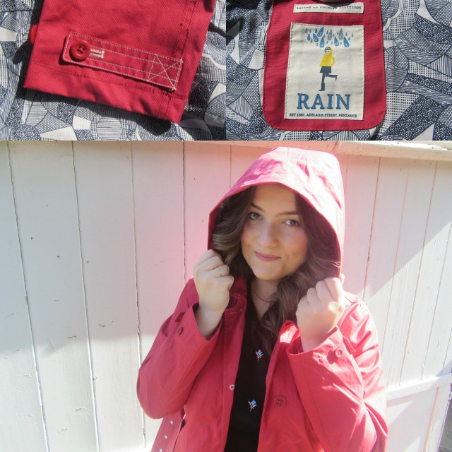 seasalt red coat hood