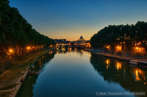 italy vatican rome roma reflections twilight italia dusk sunsets tiber marc bluehour stpetersbasilica haegeman reflectsobsessions