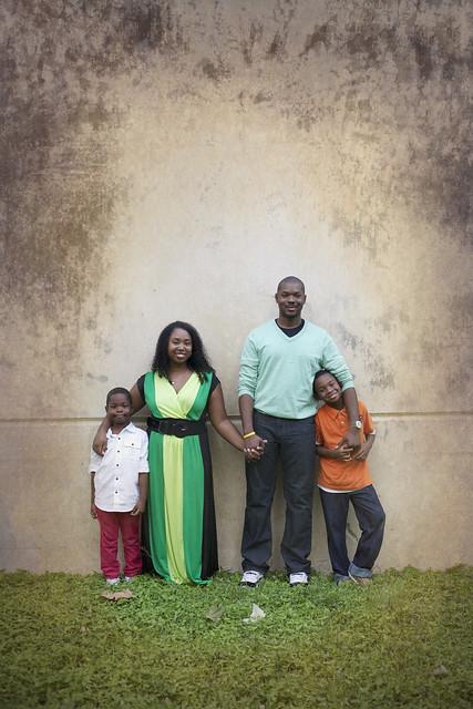 posed family photo
