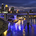minneapolis minnesota downtown skyline - river city architecture blues by Dan Anderson.