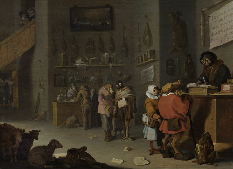 Cornelis Saftleven - Who Sues For A Cow, 1629