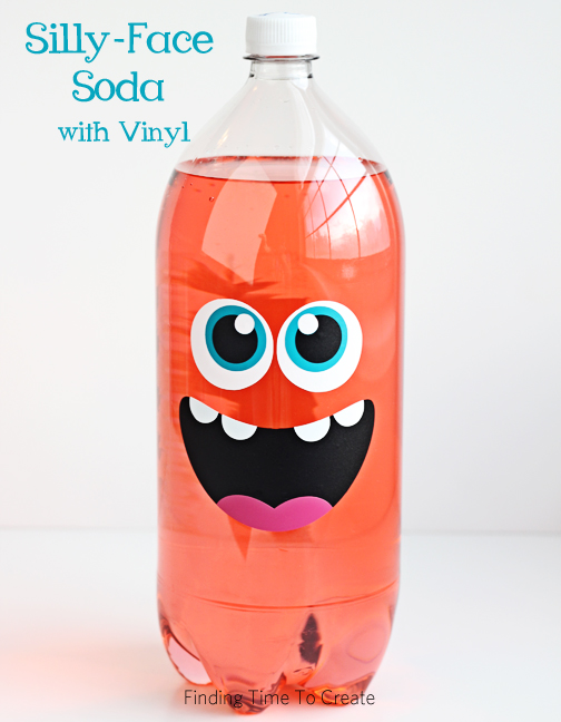 Silly-Face Soda made with Vinyl_Finding Time To Create