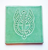 Strength United is Stronger Vintage California Art Tile Jade Green CFWC Salvaged