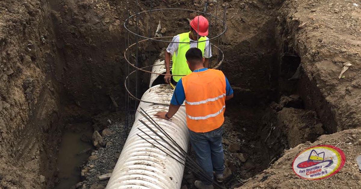 Continúan trabajos de descargas de aguas lluvias en Bellavista Alta