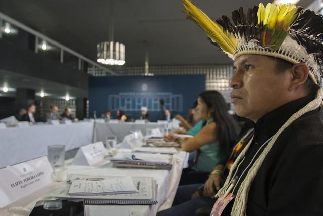 Reunião da CNPI em Brasília  - Créditos: Ana Mendes/Amazônia Real