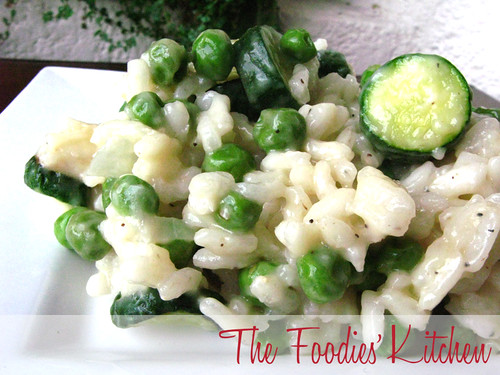 Spring Risotto with Zucchinis and Peas