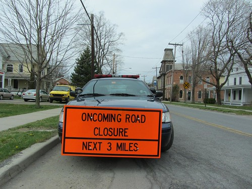 Oncoming Road Closure