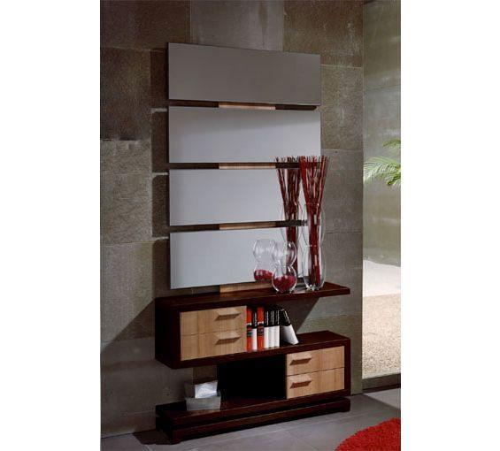 Recibidor de estilo modernoDisponible en la combinación wengué y