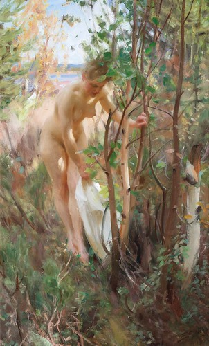 Anders Zorn - En Eva [1902] by Gandalf's Gallery
