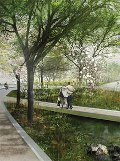 proposal for Union Square (by: Snohetta + AECOM, via ASLA)