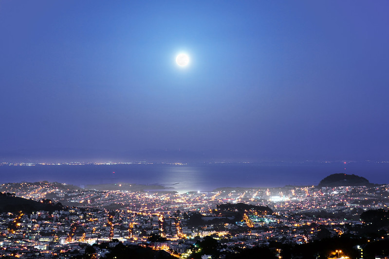 Supermoon Over San Francisco Bay