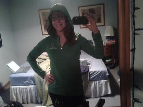 running chics hoodie