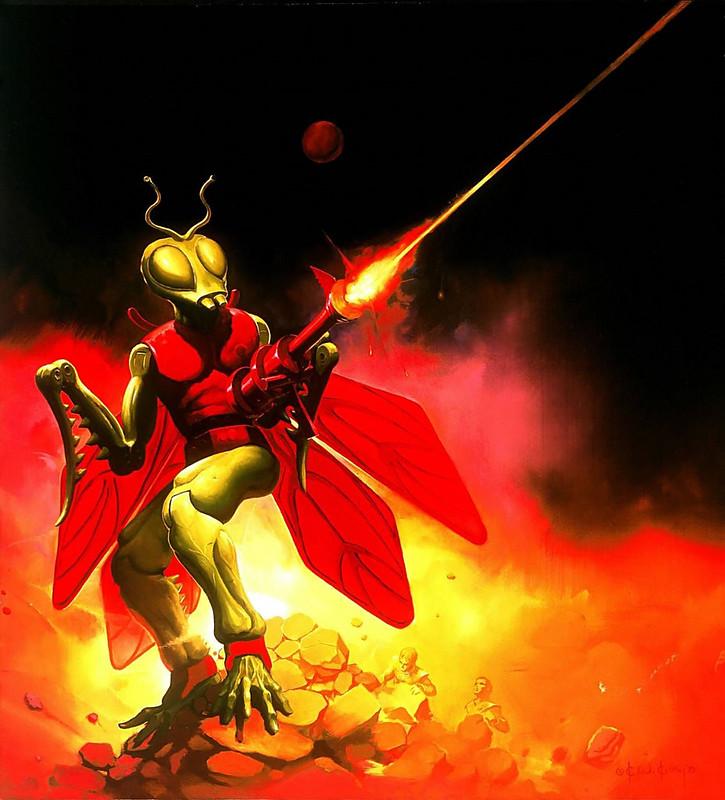 Ken Kelly - Kronos, Micronauts Card Cover Art