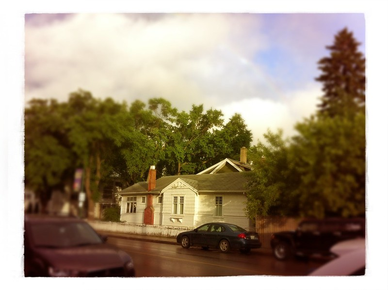 house after rain