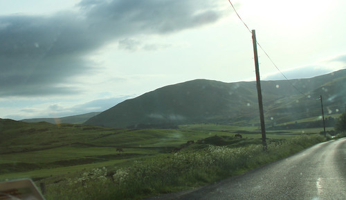 Road through Scottish borders