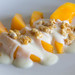 Mango con yogur y chocolate blanco
