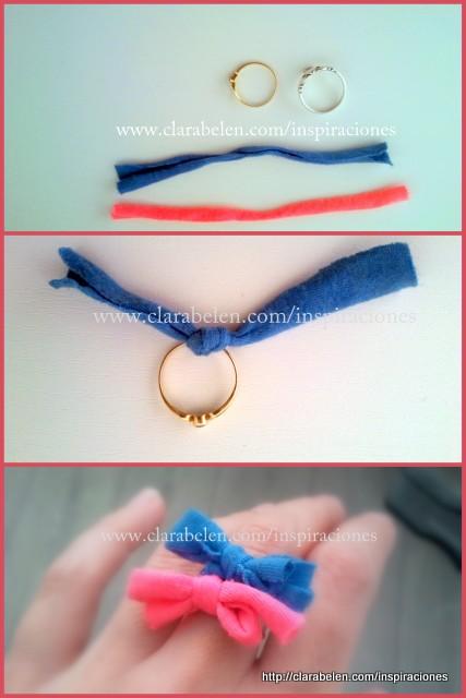 Manualidades con niños: anillos y pulseras con estilo anudando lazos