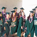 Global environmental science students at the University of Hawaii at Manoa's commencement ceremony. May 11, 2013