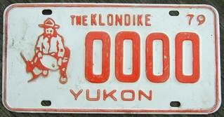 YUKON 1979 ---SAMPLE LICENSE PLATE