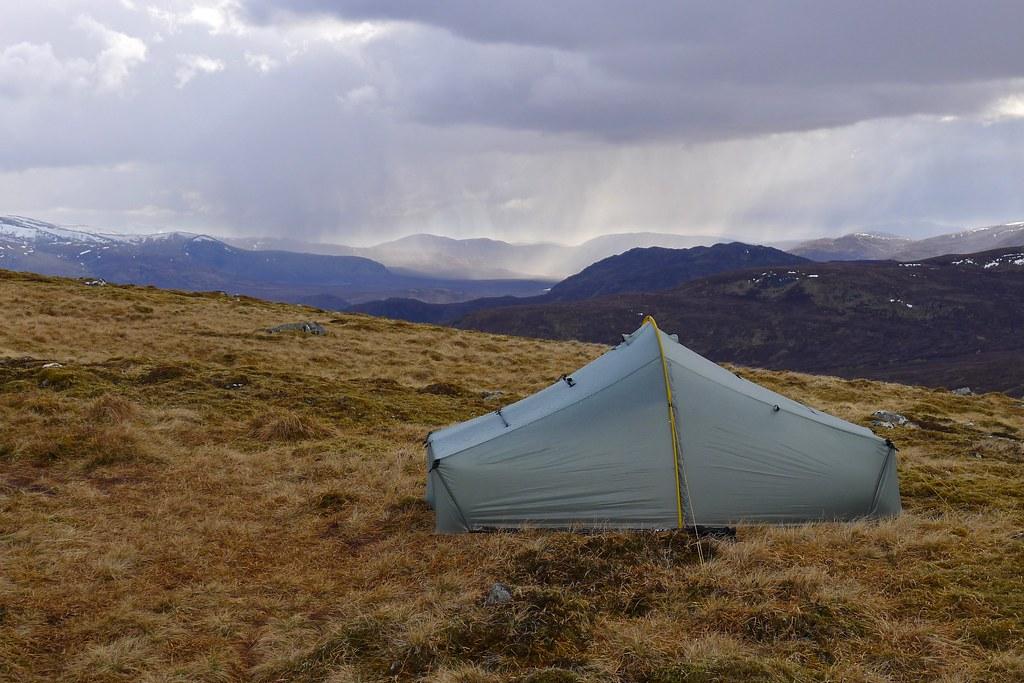 Wild camping below Gael Garn