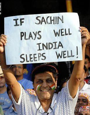 Sachin plays well, India sleeps well