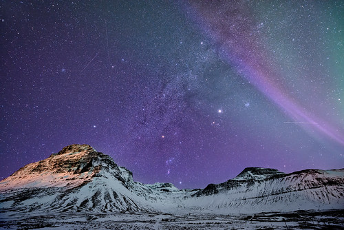 travel blue winter sky mountain snow mountains west ice night dark stars landscape island iceland nikon purple space nighttime aurora planets astronomy nightsky wilderness milky auroraborealis snæfellsnes d800 milkyway 1424 earthandspace nikond800 competition:astrophoto=2013