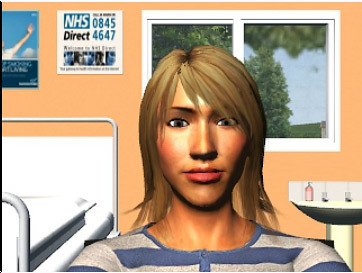 Avatar of Sarah Hodges, one of the characters used in GP Sim, a training solution that helps GPs spot the early signs of cancer.