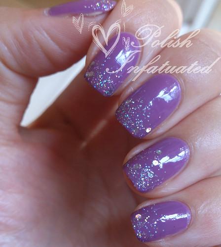 silver glitter gradient