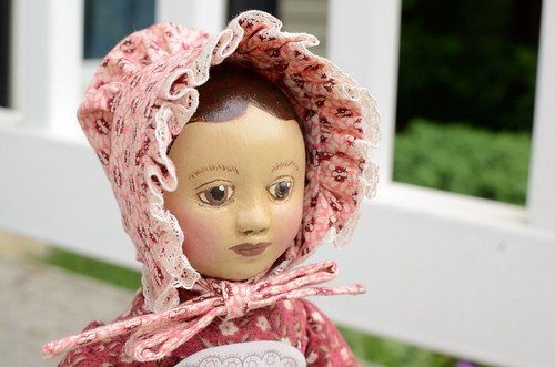 Finished GW Izannah Walker Inspired Doll's Bonnet