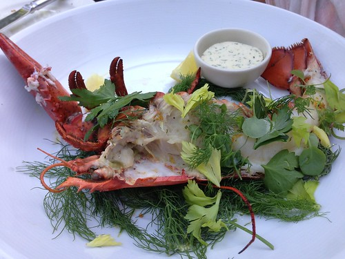 Half Grilled Lobster with herb butter