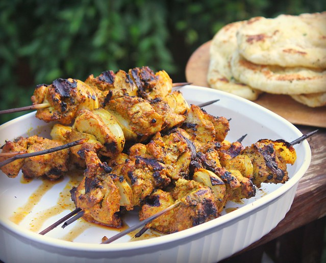 Chicken tikka masala kabob