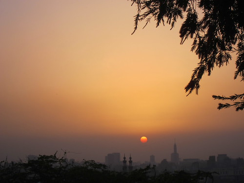 Sunset over Cairo by Michael Tinkler