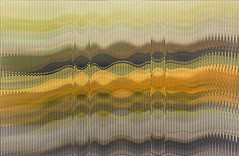 """Painting by Abraham Palatnik (b. 1928 Brazil): W-427, 2012 (Acrylic on wood)"" / Galeria Nara Roseler / Art Basel Hong Kong 2013 / SML.20130523.EOSM.04006"