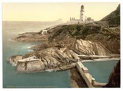 [Douglas Lighthouse and bathing cove, Isle of Man]  (LOC)