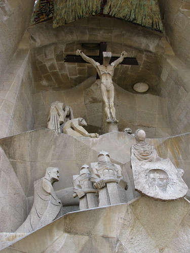 Detalle exterior: La crucifixión.