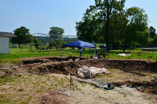 Excavation work at the Roman Villa Borg, Germany