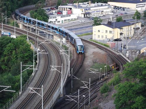 Metró, Alvik állomásnál