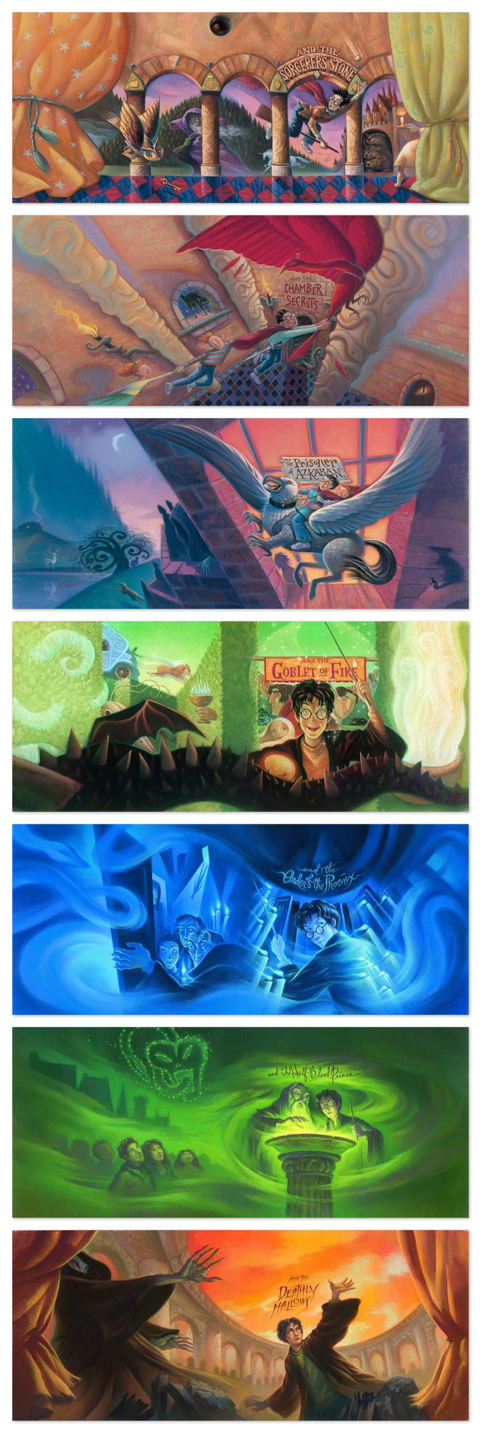 todas as capas harry potter