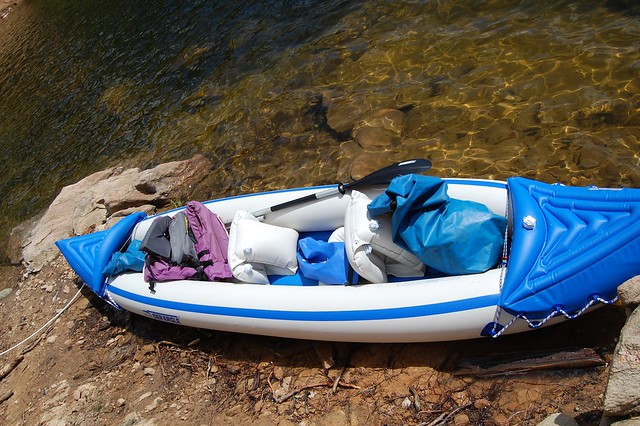 Inflatable Kayak Sea Eagle  - Camping and Boating, Gross Reservoir, CO
