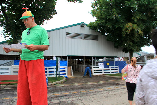 Man on Stilts with Beanie Cap Reviews Maps of DuPage County Fair