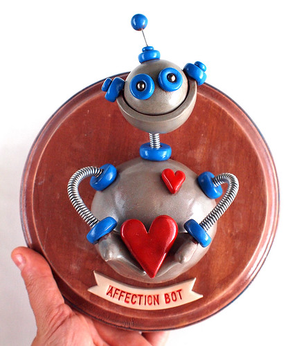 Affection Bot 3D Robot Wall Art by HerArtSheLoves