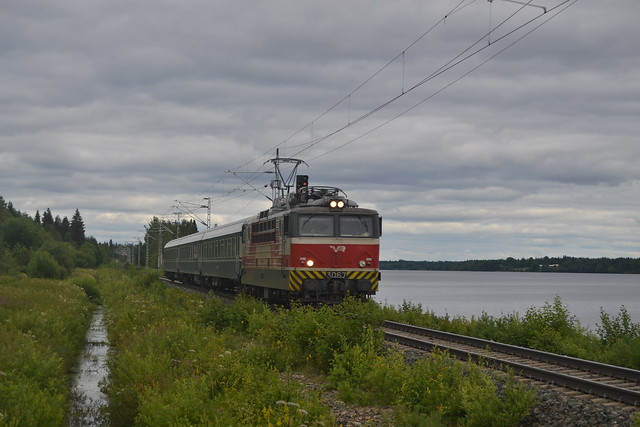 Passenger train in Koivu