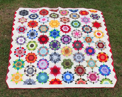 Rose Star quilt finish 7143_1