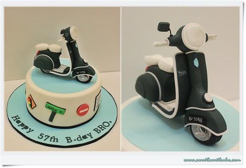 Sweet Sweet Cake Vespa Scooter Themed Cake