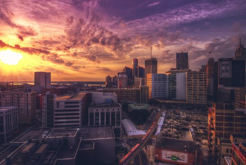 city sky sun rooftop sunrise landscape michigan detroit hdr motorcity puremichigan uploaded:by=flickrmobile flickriosapp:filter=nofilter