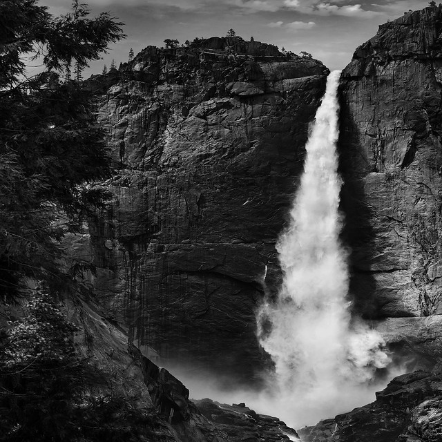 Upper Yosemite Falls ( Black & White)